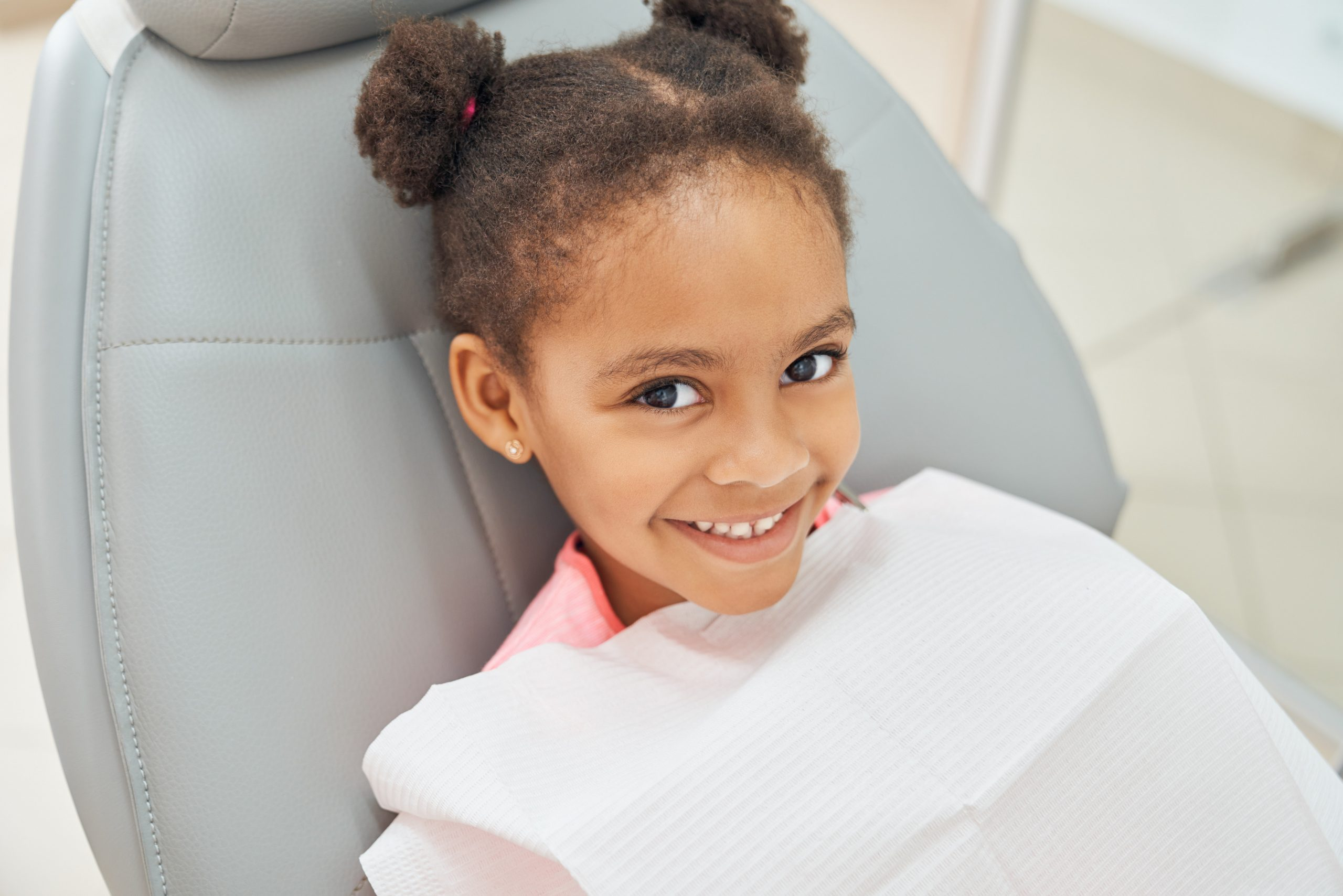 happy child at dentist's office